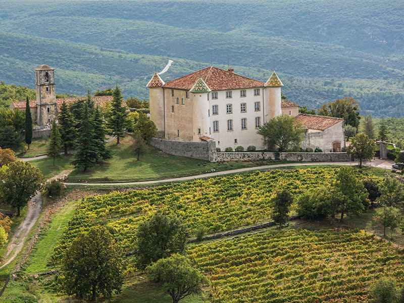 The Château of Aiguines dates back to the Renaissance