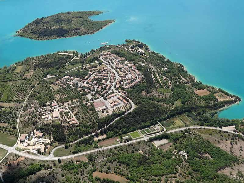 Les Salles sur Verdon seen from the sky